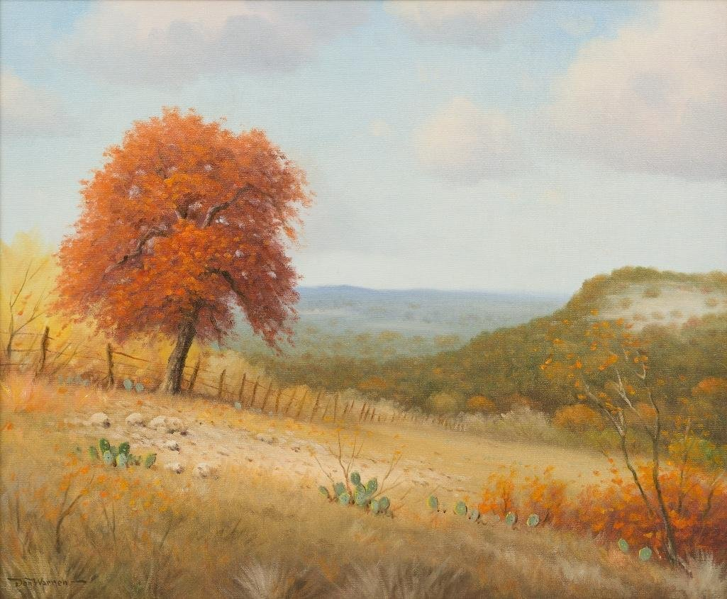 Don Warren (1935-2006), Autumn in Texas, oil on canvas