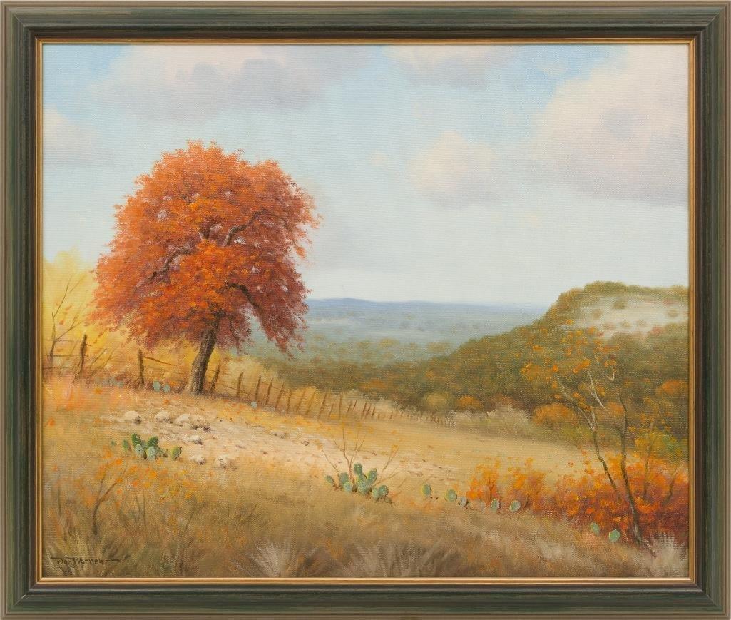 Don Warren (1935-2006), Autumn in Texas, oil on canvas - 2