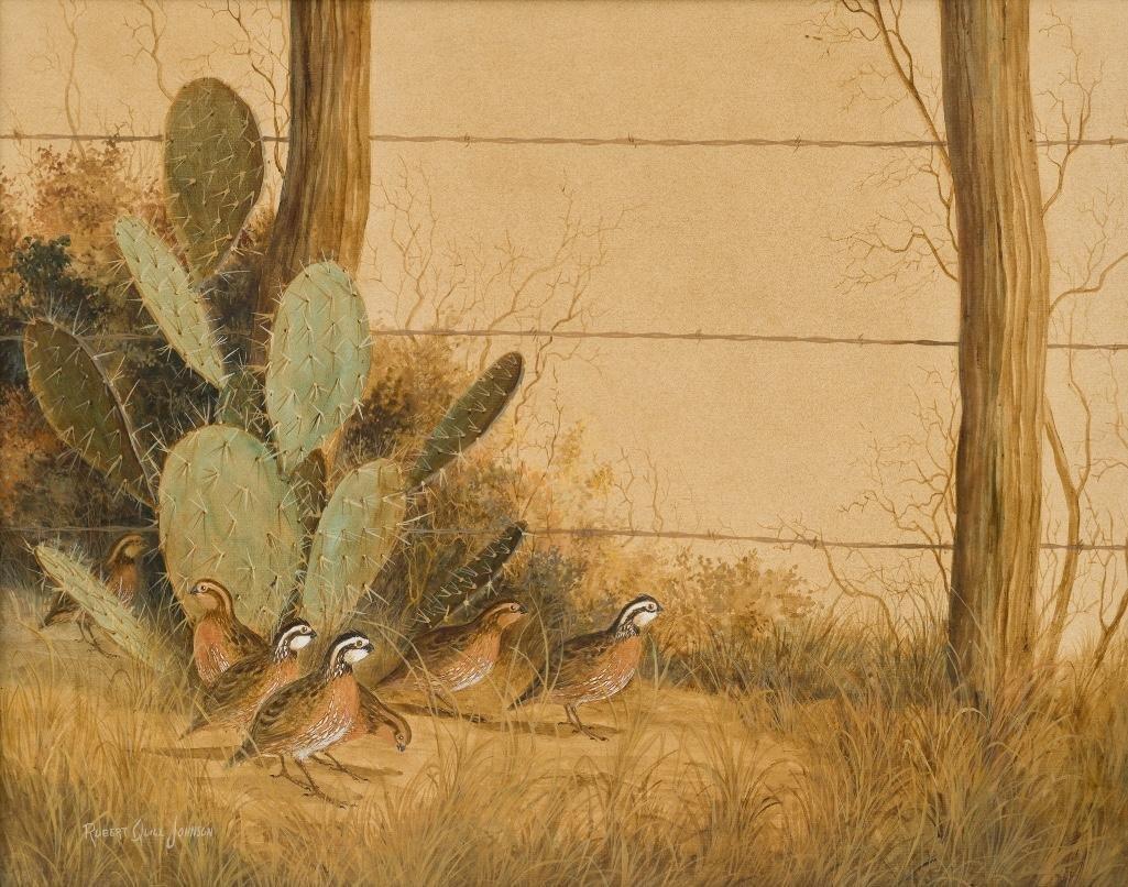 Robert Quill Johnson (1927-1980), Cactus and Quail