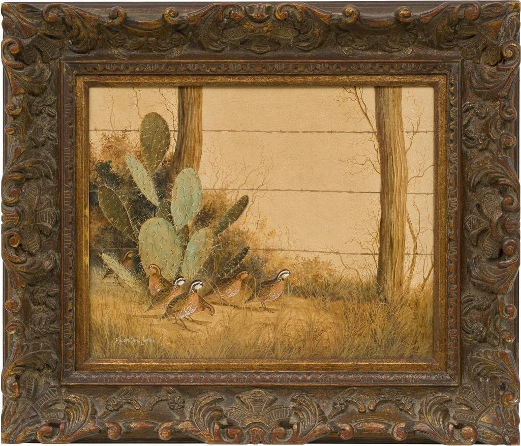 Robert Quill Johnson (1927-1980), Cactus and Quail - 2