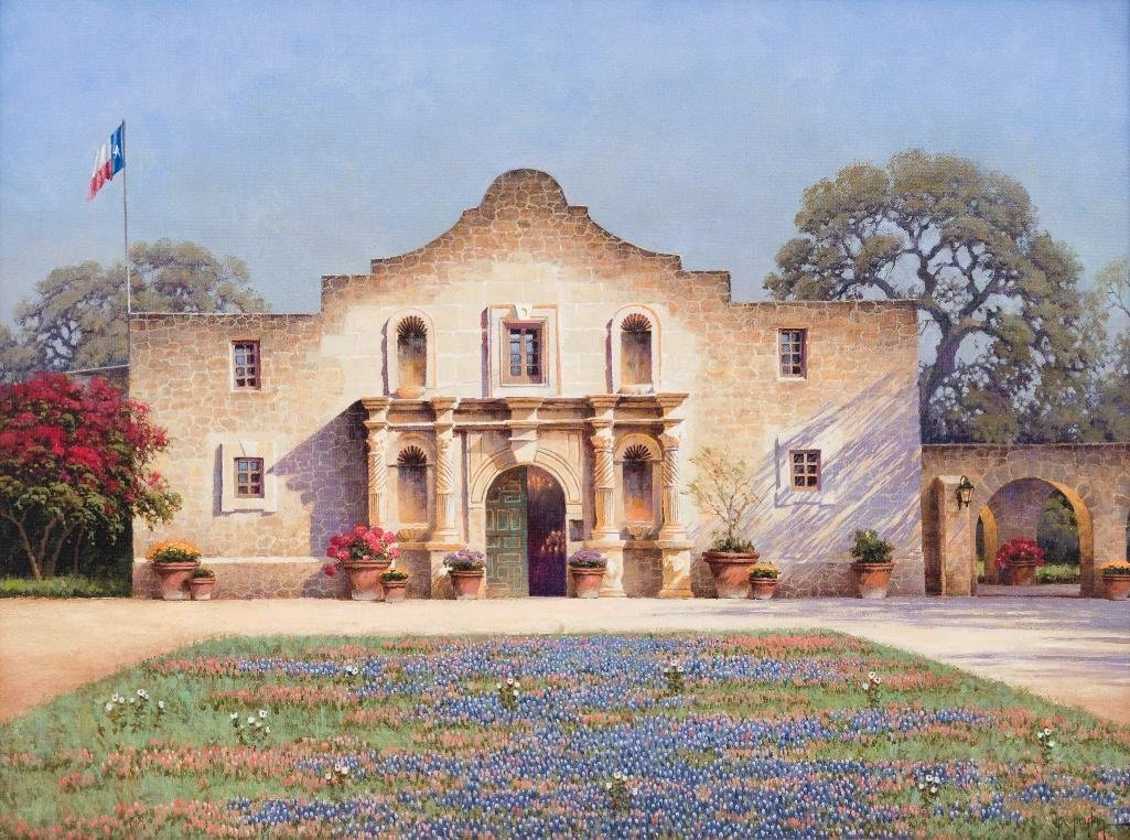 Randy Peyton (b. 1958), Alamo, giclee print on canvas