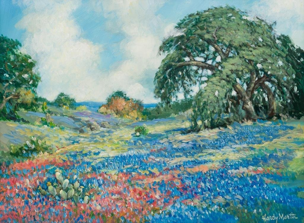 "Hardy Martin, ""Bluebonnet Spring"", oil on canvas"