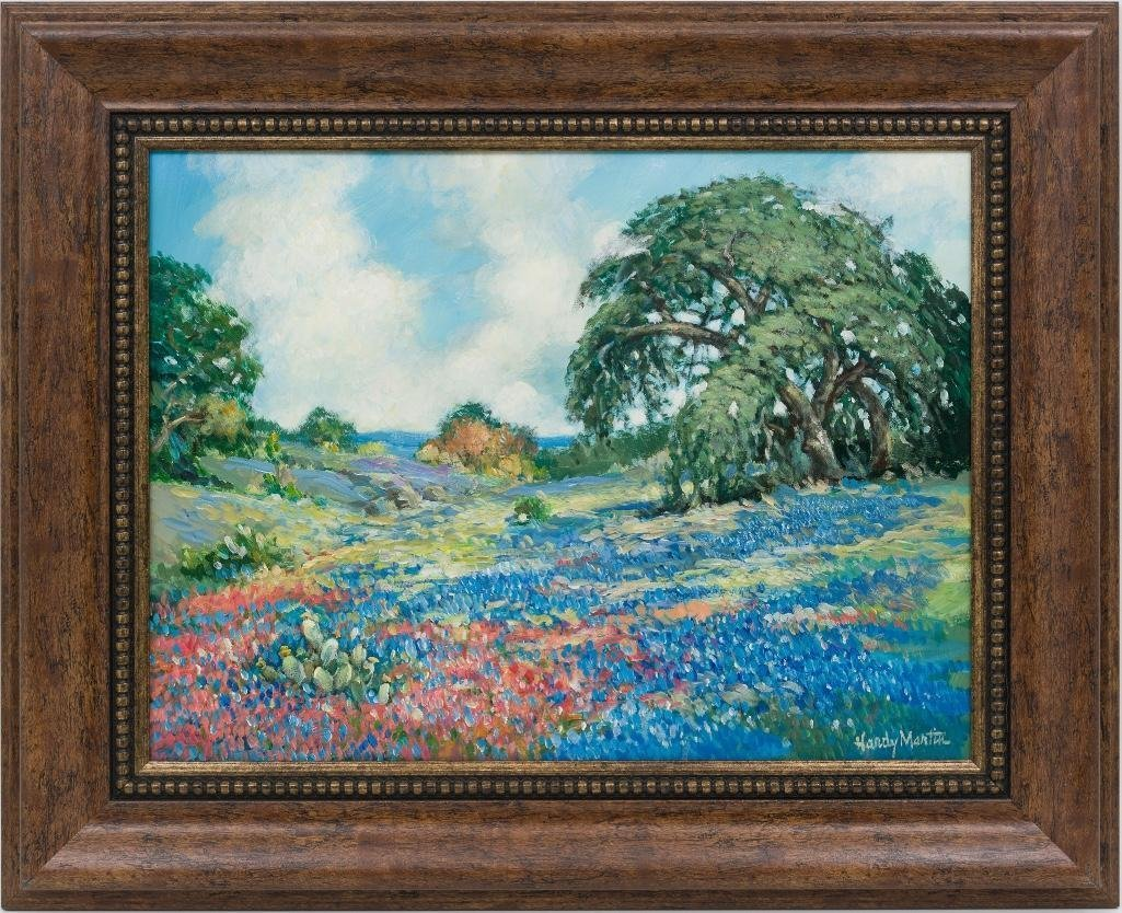 "Hardy Martin, ""Bluebonnet Spring"", oil on canvas - 2"