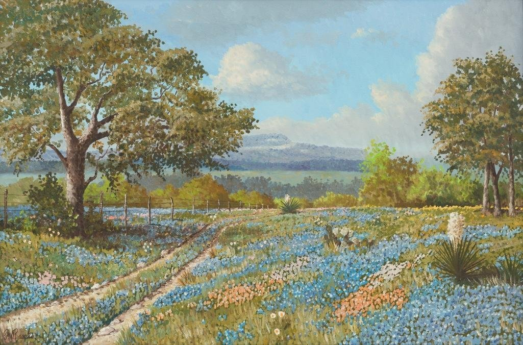"Florent P. Baecke, ""Springtime"", 1972, oil on canvas"