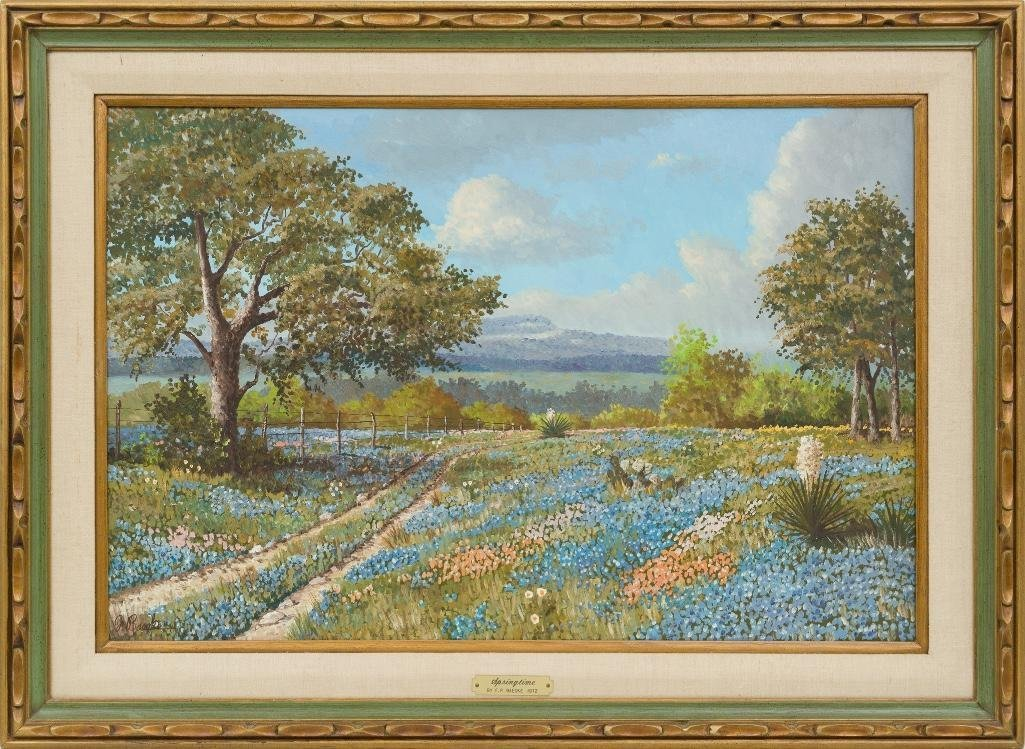 "Florent P. Baecke, ""Springtime"", 1972, oil on canvas - 2"