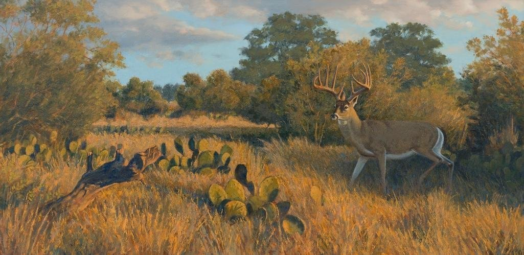 "Jim Eppler (b. 1950), ""Primed and Ready-Whitetail Buck"""
