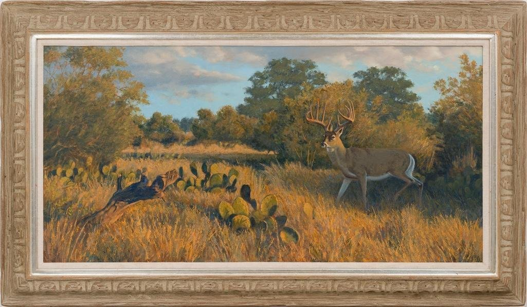 "Jim Eppler (b. 1950), ""Primed and Ready-Whitetail Buck"" - 2"