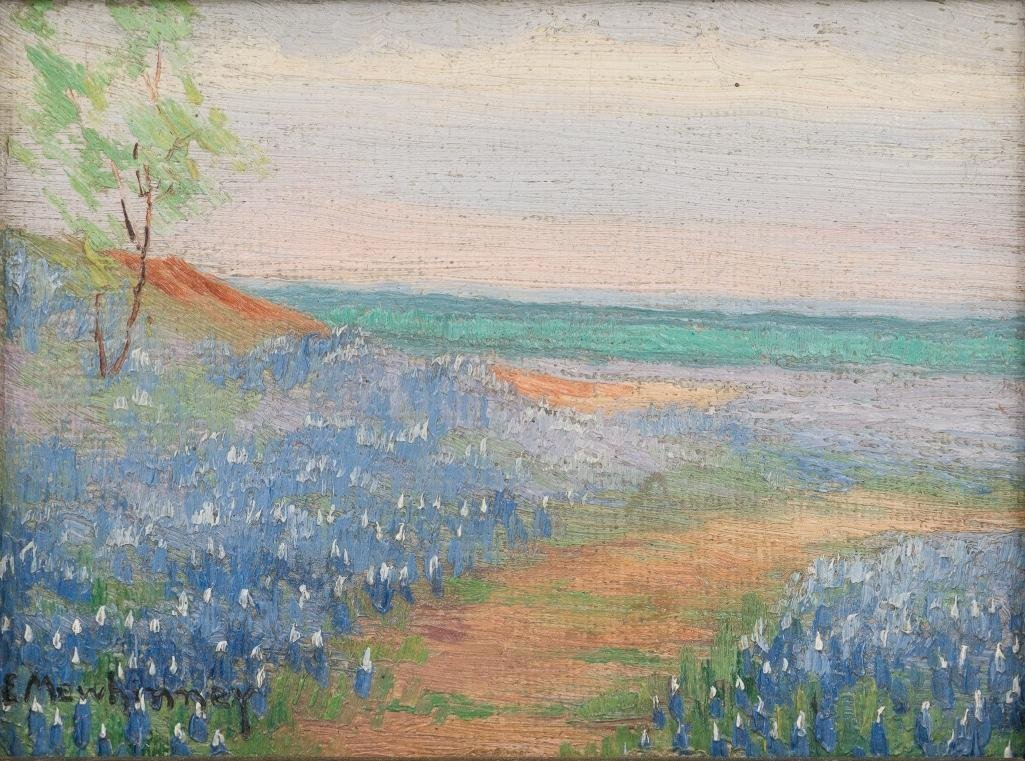 Ella K. Mewhinney (1891-1962), Bluebonnets, oil
