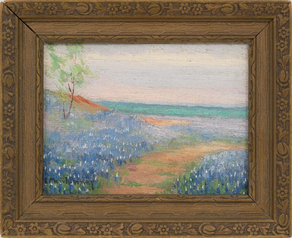 Ella K. Mewhinney (1891-1962), Bluebonnets, oil - 2