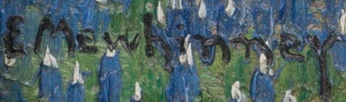 Ella K. Mewhinney (1891-1962), Bluebonnets, oil - 3