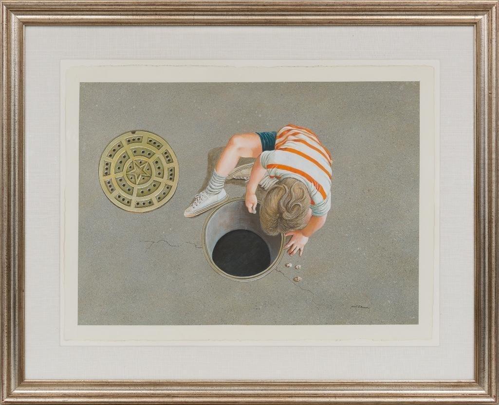 Ancel Nunn (1928-1999), Boy Playing, watercolor - 2