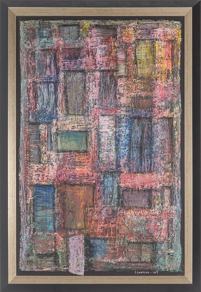 "Leslie Larsson (1913-1970), ""Tenement"", 1957, oil - 2"