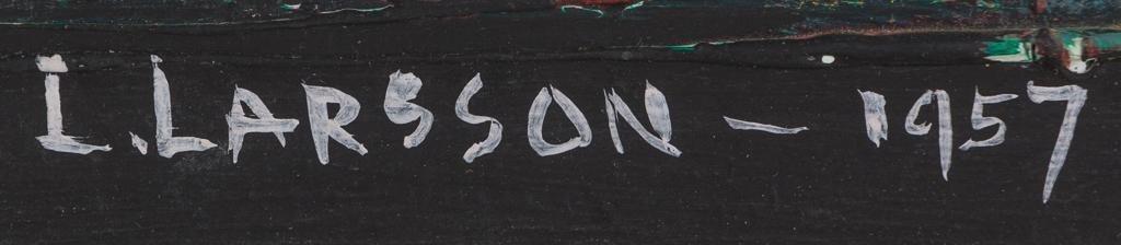 "Leslie Larsson (1913-1970), ""Tenement"", 1957, oil - 3"