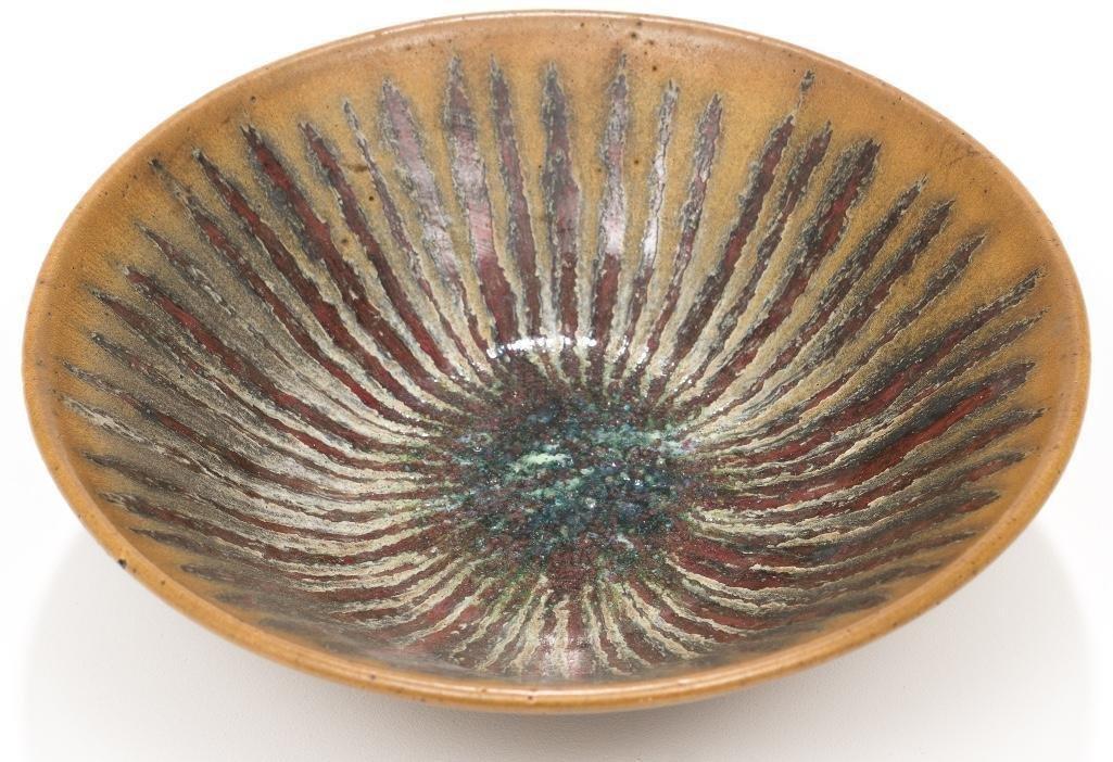 Harding Black (1912-2004), Brown starburst bowl, 1971 - 2