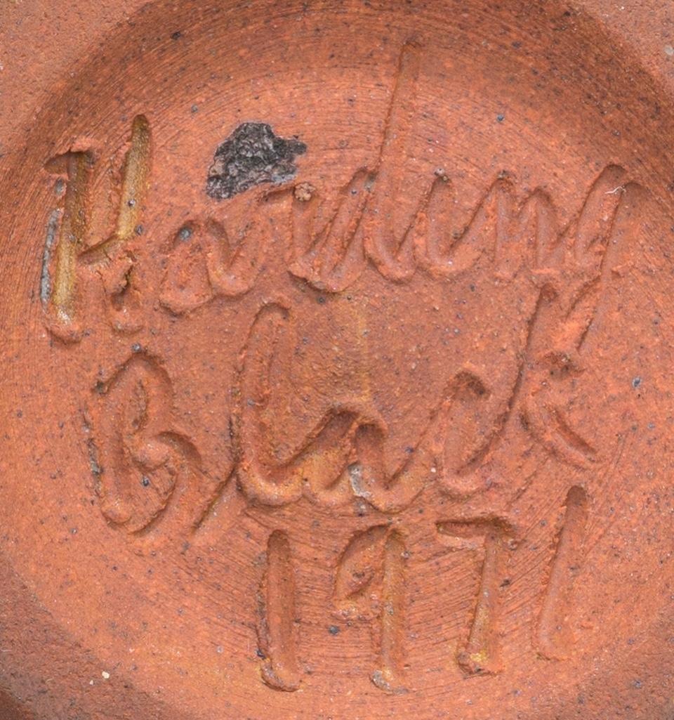 Harding Black (1912-2004), Brown starburst bowl, 1971 - 6