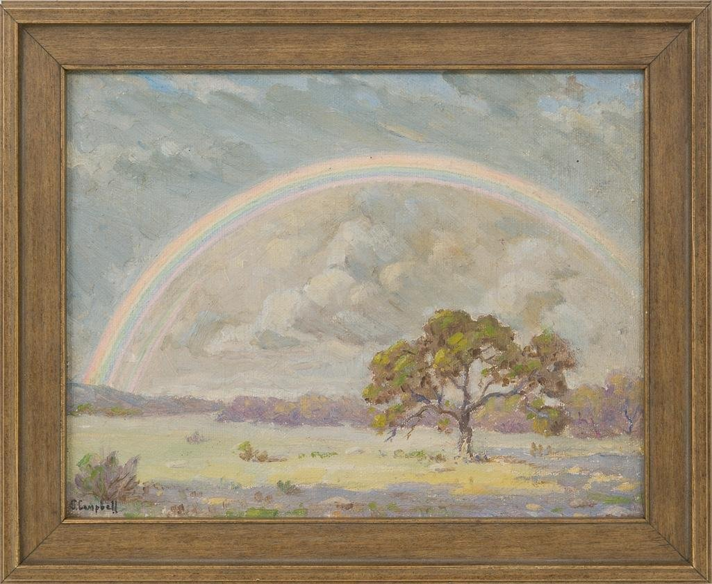 Orville Campbell (1903-1987), Hill Country Rainbow, oil - 2
