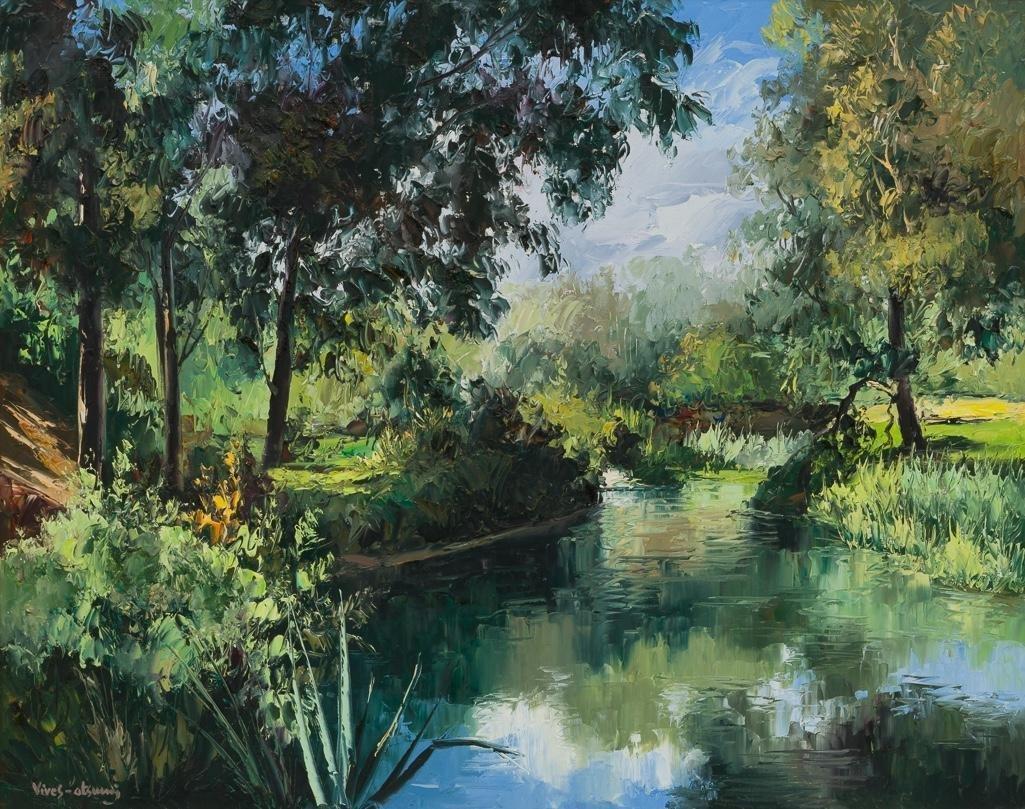 """Jose Vives-Atsara (1919-2004), """"Brackenridge Park"""" 1967"""
