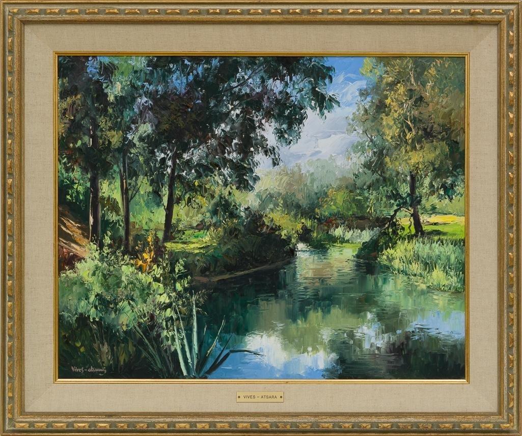 """Jose Vives-Atsara (1919-2004), """"Brackenridge Park"""" 1967 - 2"""