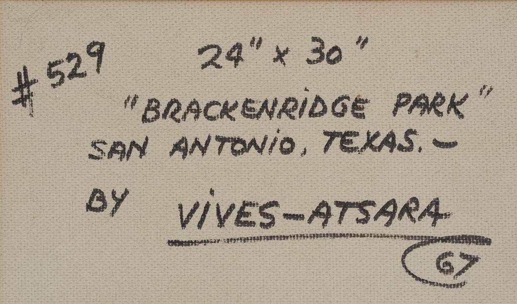 """Jose Vives-Atsara (1919-2004), """"Brackenridge Park"""" 1967 - 5"""