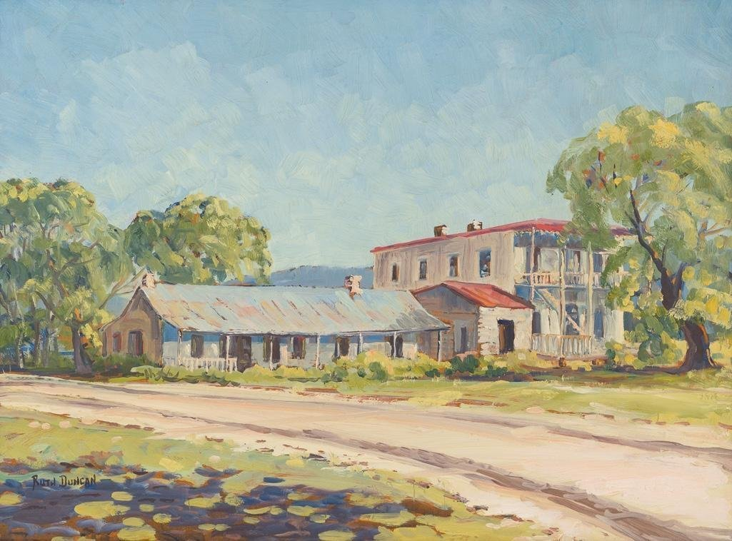 "Ruth Duncan (1908-2002), ""Stage Station, Leon Springs"""
