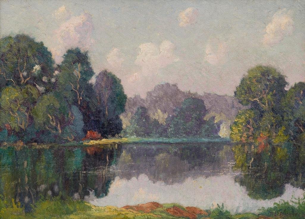 Peter L. Hohnstedt (1871-1957), On the Lake