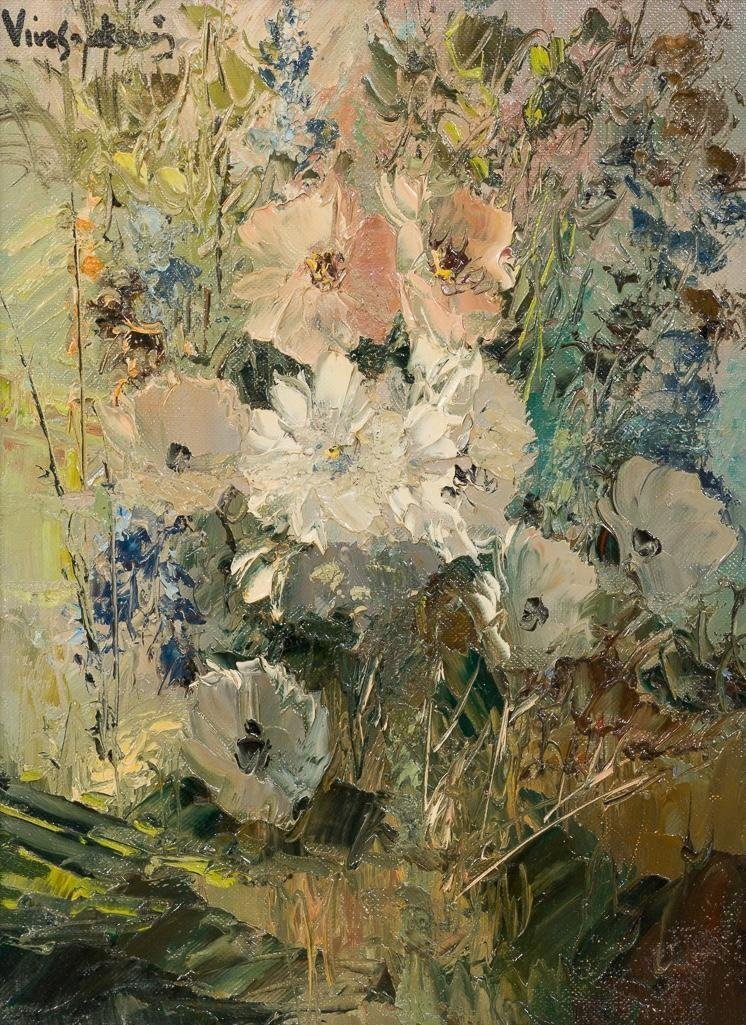"Jose Vives-Atsara (1919-2004), ""Wild Flowers"", 1969"