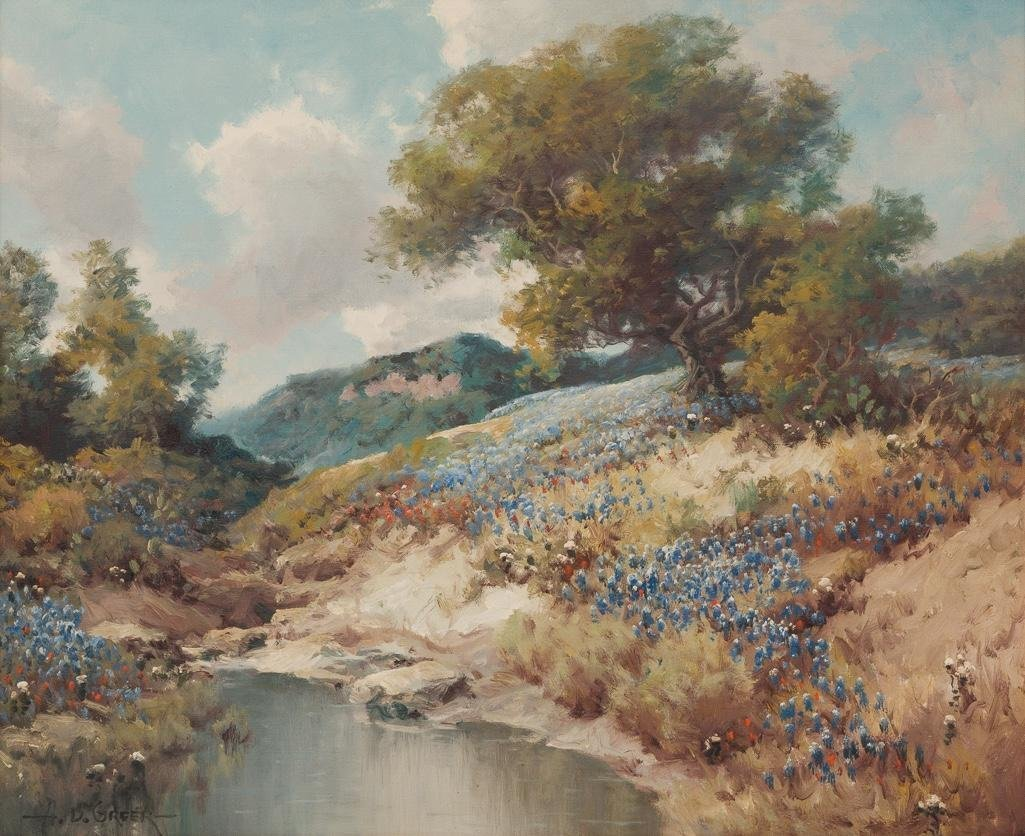 A. D. Greer (1904-1998), Hill Country Bluebonnets, oil