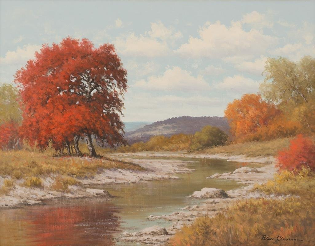 Palmer Chrisman (1913-1984), Hill Country Autumn, oil