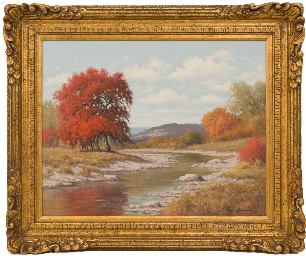 Palmer Chrisman (1913-1984), Hill Country Autumn, oil - 2