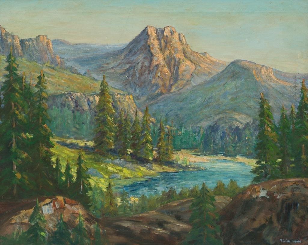 Vivian Love (1908-1982), Mountain Landscape, oil