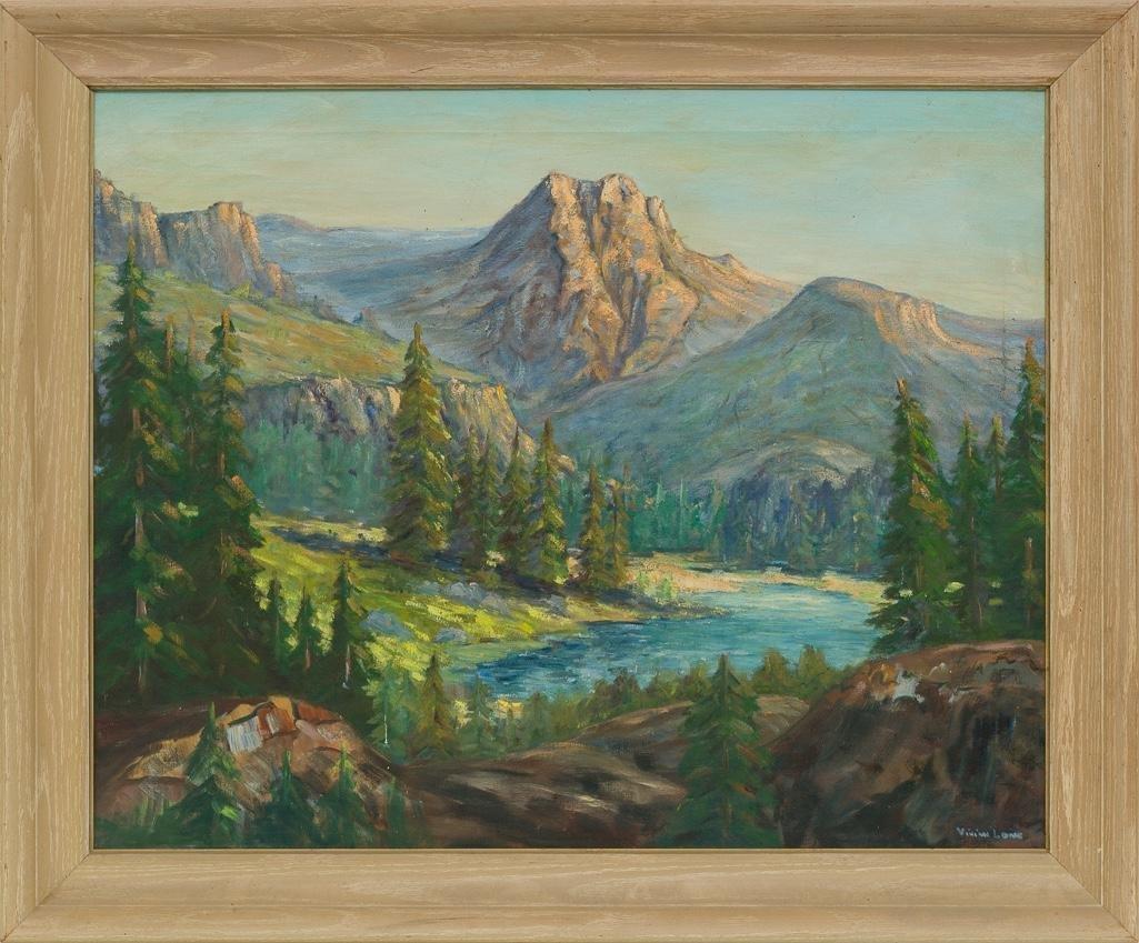 Vivian Love (1908-1982), Mountain Landscape, oil - 2