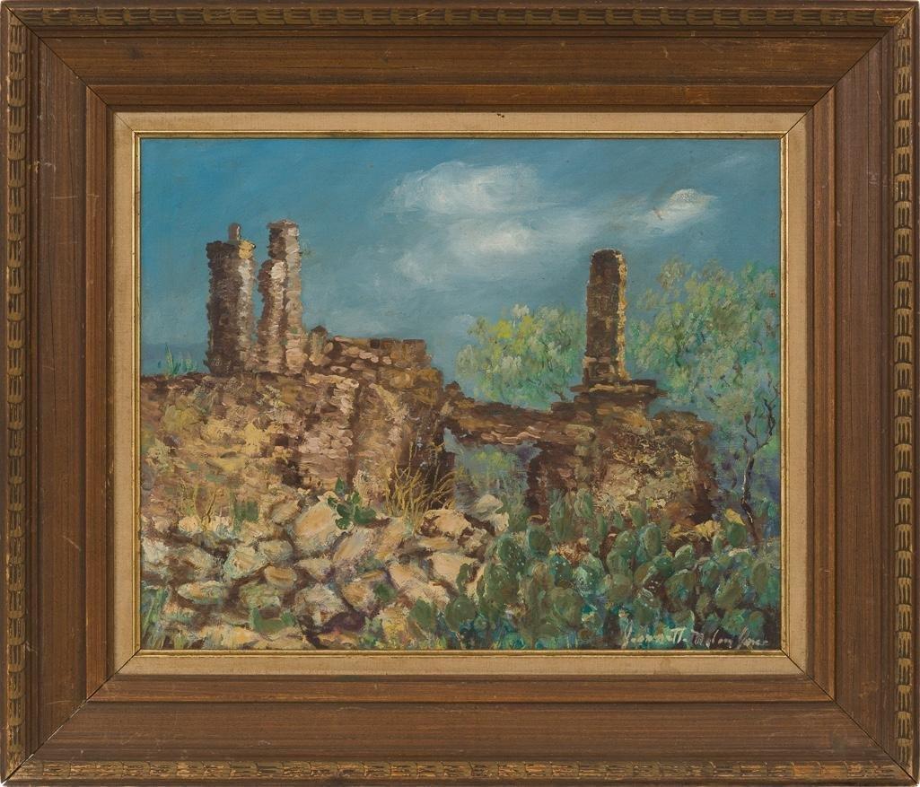 Jeanette Milam Jones (1903-1989), West Texas, oil - 2