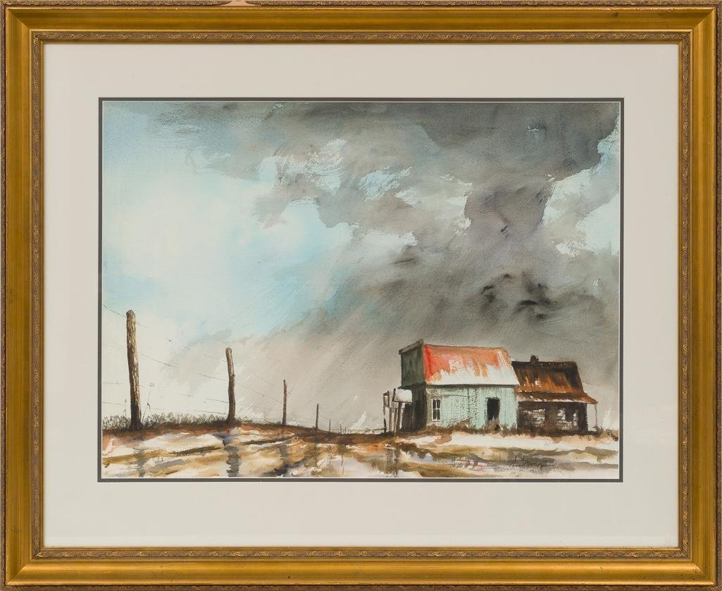 Ancel Nunn (1928-1999), Study for Rainstorm Farm Scene - 2