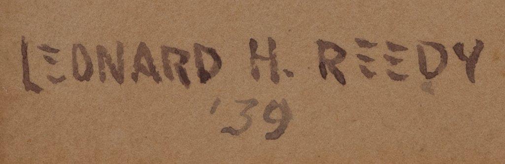 Leonard Reedy (1899-1956), Shootout in Town, 1939, w/c - 3