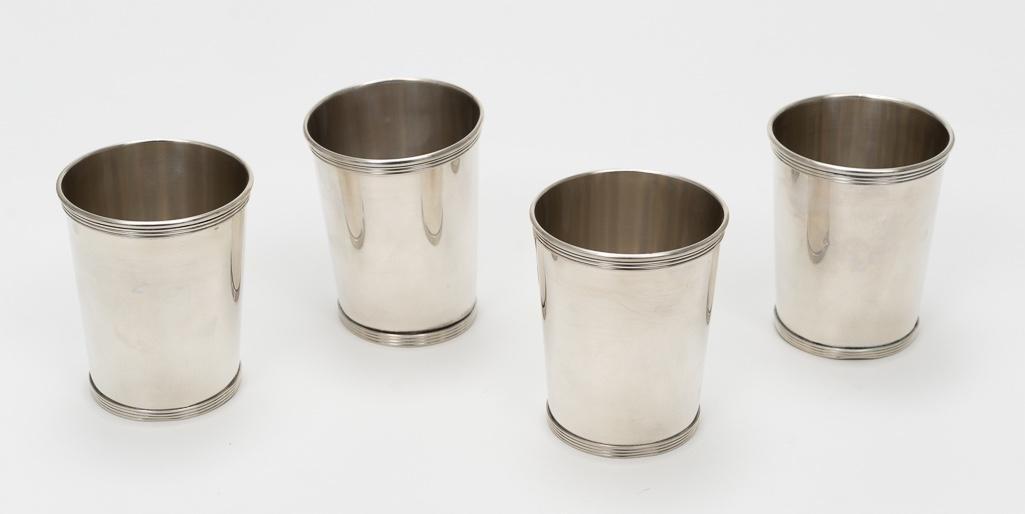 4 Newport Sterling Julep Cups