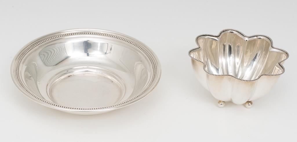 2 Decorative Sterling Bowls
