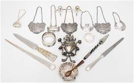 Variety of Small Sterling and Silver Plate Items