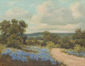 Vivian Love (1908-1982), Bluebonnet Road, oil