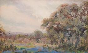 Paul Rodda Cook (1897-1972), Bluebonnet Impression, oil