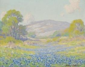Morris Walton Leader (1876-1966), Bluebonnets, oil