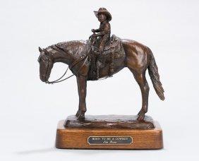 "Jim Reno (1929-2008), ""Born to be a Cowboy"", bronze"