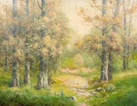 P. L. Hohnstedt (1871-1957), Near Comfort, Texas, oil