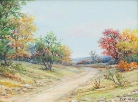 Exa Wall (1897-1972), Hill Country Color, oil