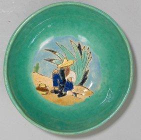 San Jose Art Pottery, Signed Bowl, glazed ceramic