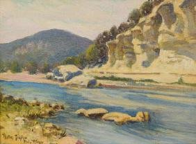 Rolla Taylor (1872-1970), Frio River, c. 1944, oil