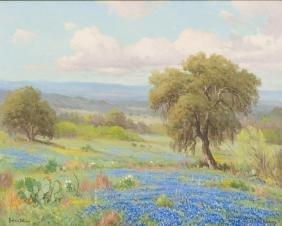 Porfirio Salinas (1910-1973), Bluebonnets/Cactus, 1956