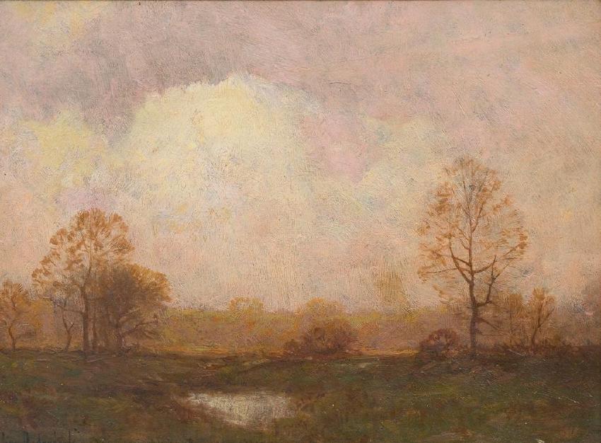 """Julian Onderdonk (1882-1922), """"Clouded Sun"""", oil"""