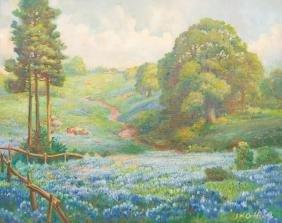 John Orth (1889-1976), Spring Bluebonnets, oil