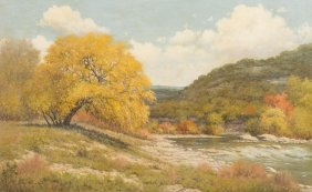 Palmer Chrisman (1913-1984), Texas Hill Country, oil