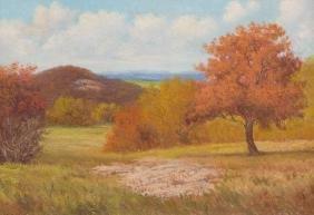 Pedro Lazcano (1909-1973), Autumn Landscape, oil